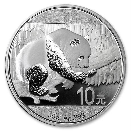 Kina Panda 2016, 30 gram sølvmynt i kapsel