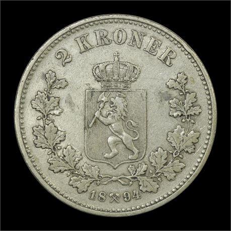 2 Kroner 1894 Kv 1/1+