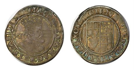 England Shilling James I Kv 1+, riss