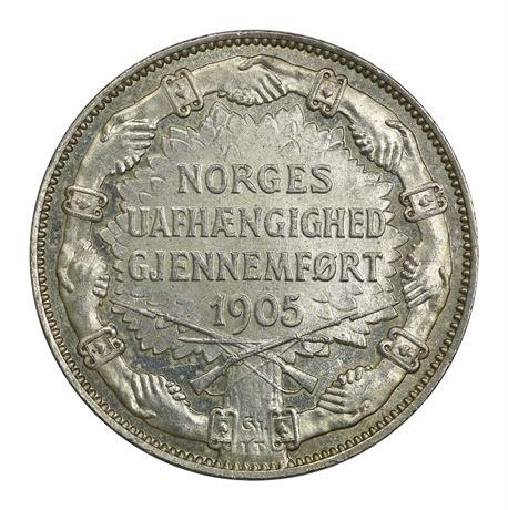 2 Kroner 1907 Gev. Kv 0/01