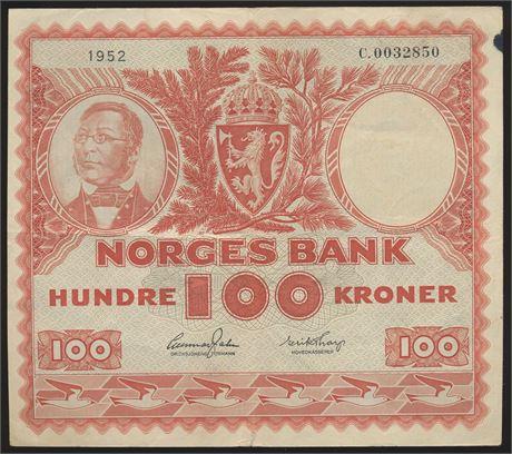 100 Kroner 1952 C Kv 1