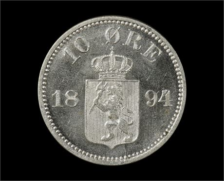 10 Øre 1894 Kv 0