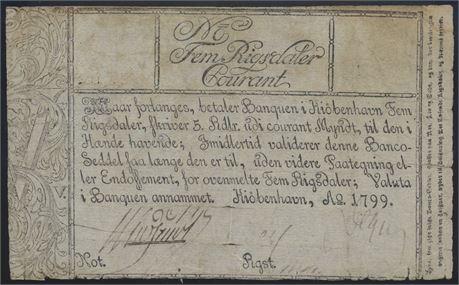 5 riksdaler kurant 1799 Kv 1-2