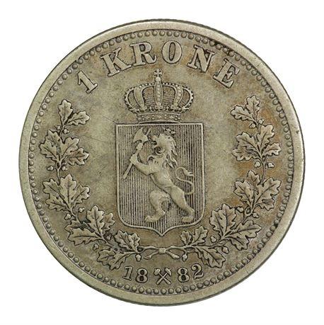 1 Krone 1882 Kv 1+