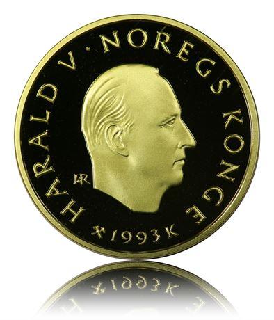 1/2 oz rent gull 1500 Kroner Norge Tilfeldig type.