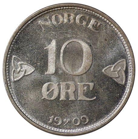 10 Øre 1909 Kv 0, vakker