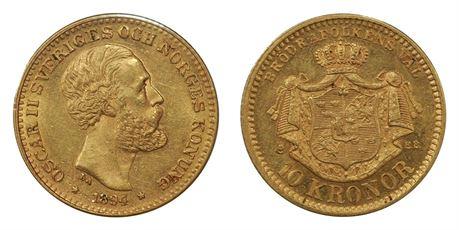 Sverige 10 Kronor 1894 kv 01