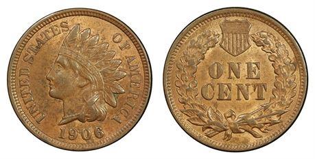 USA 1 Cent 1906 Kv 0/01
